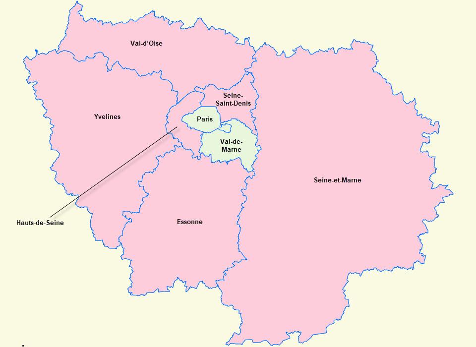 Frankreich Ile De France Karte Arge Bautenserie 1948 E V